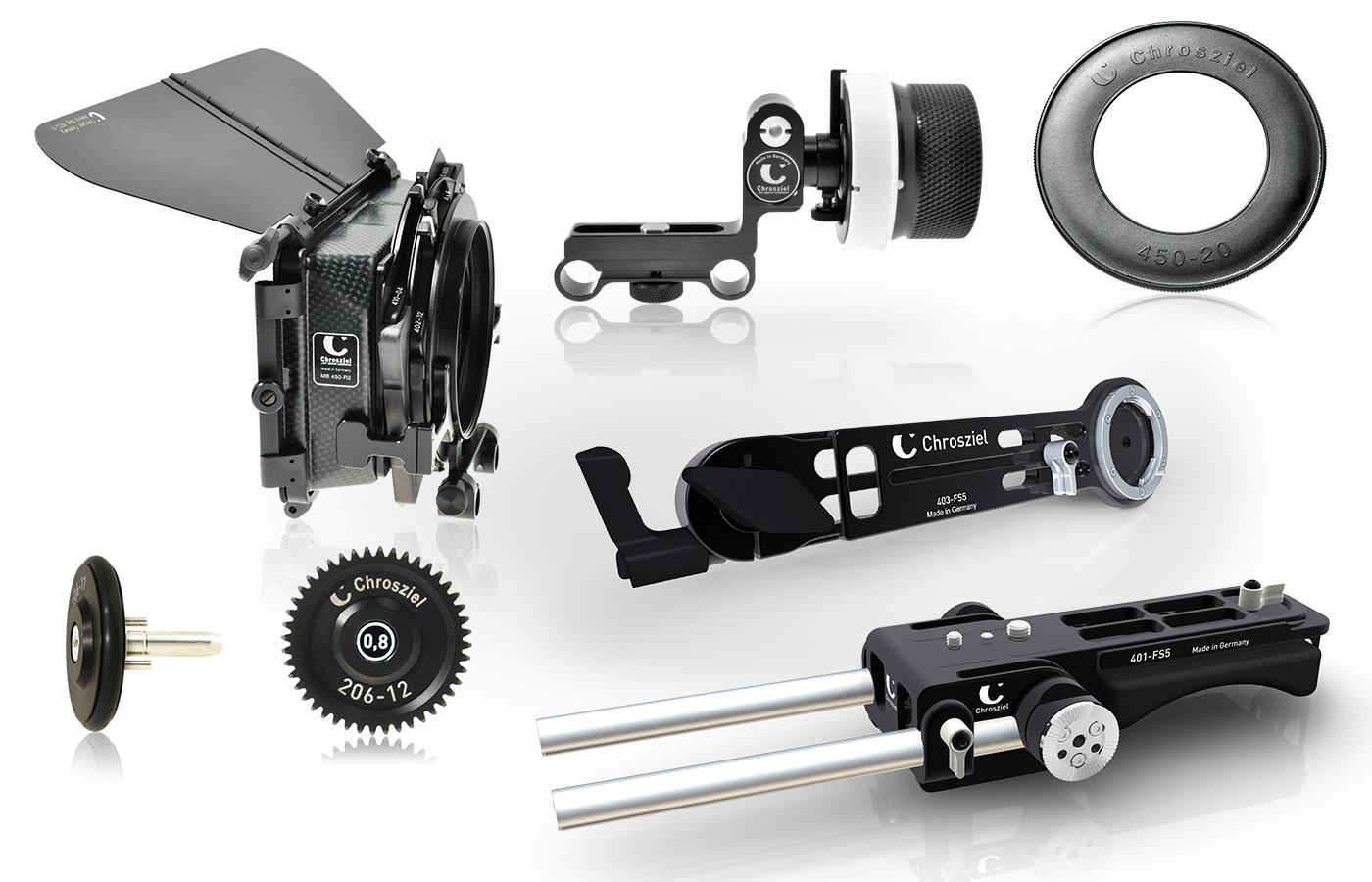Kit für Sony PXW-FS5: Mattebox 450R2 EXT 403-FS5, FF 206-05S