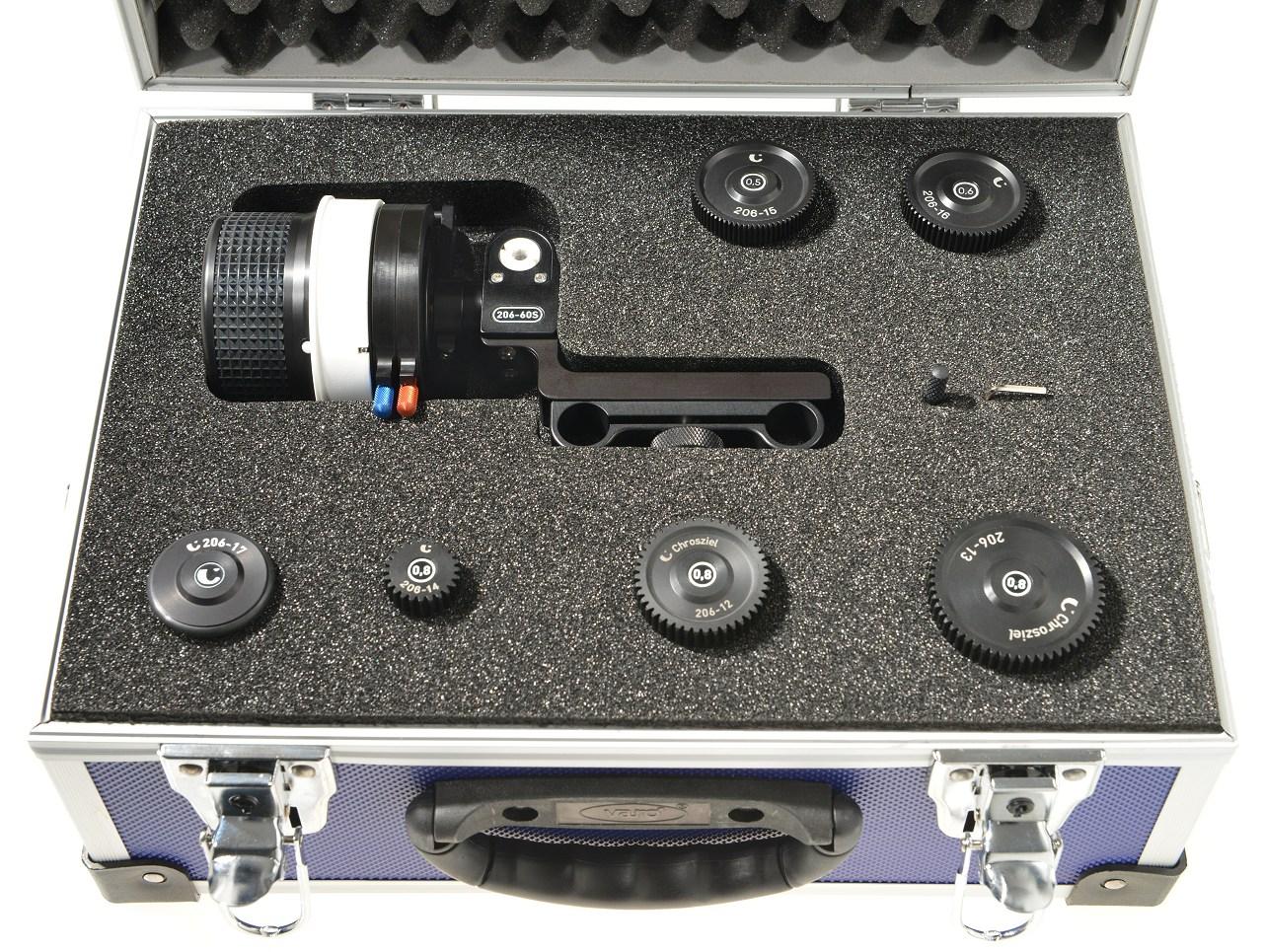 DV StudioRig Kit im Koffer mit allen Zahnrädern