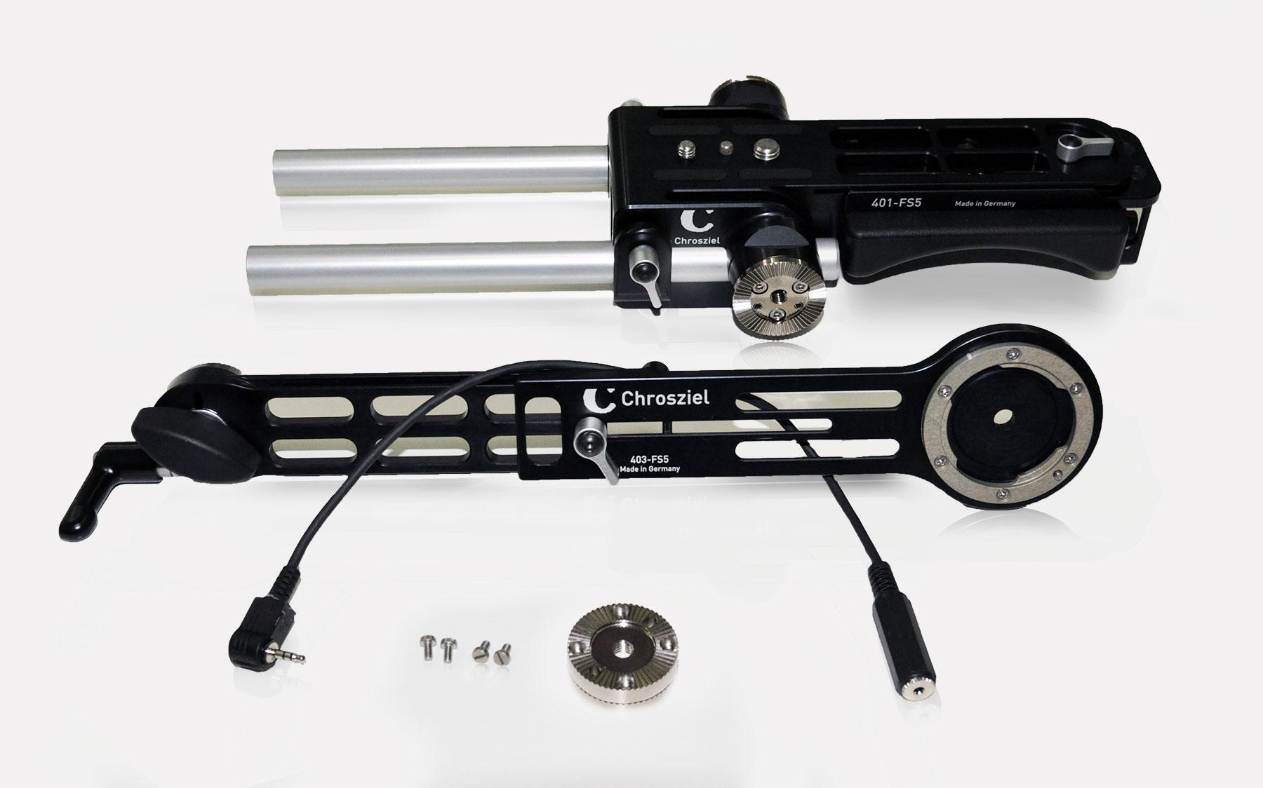Kit für Sony PXW-FS5: Leichtstütze und Handgriffverlängerung