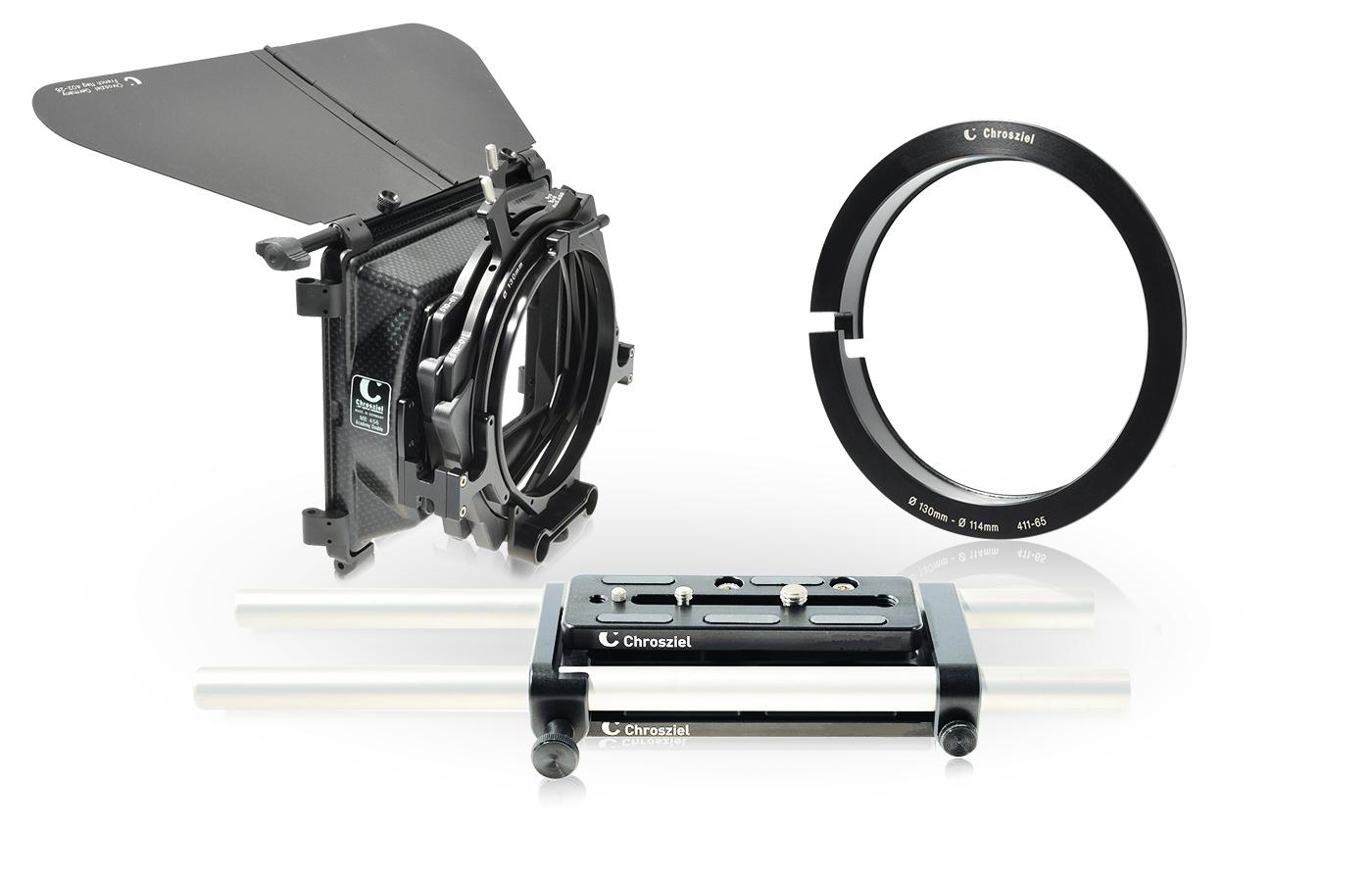 Mattebox Kit 456 Sony F5/ F55, Ring Ø114mm und Stütze