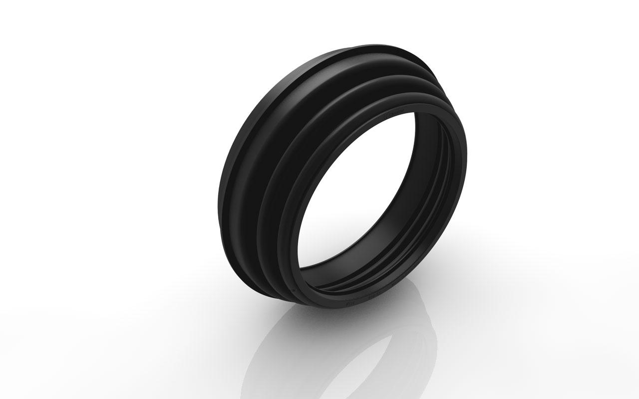 Rubber Bellows Ring Ø 150:114