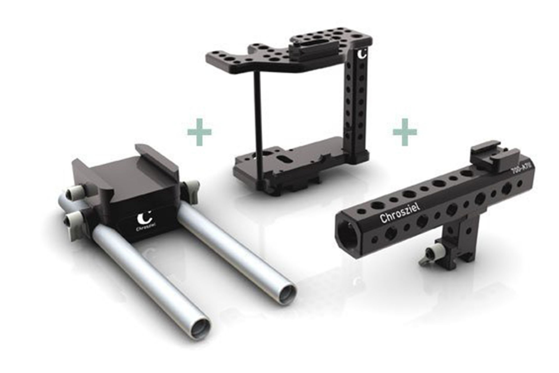 System für Sony Alpha 7IIS/R mit Kamera Cage u. Leichtstütze
