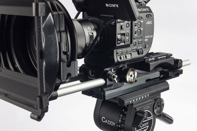 Light Weight Support for Sony PXW-FS5, with shoulder pad
